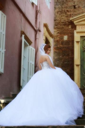 Elegant Crystal And Pearl Beaded Sweetheart Ball Gowns Wedding Dresses ,PD0701