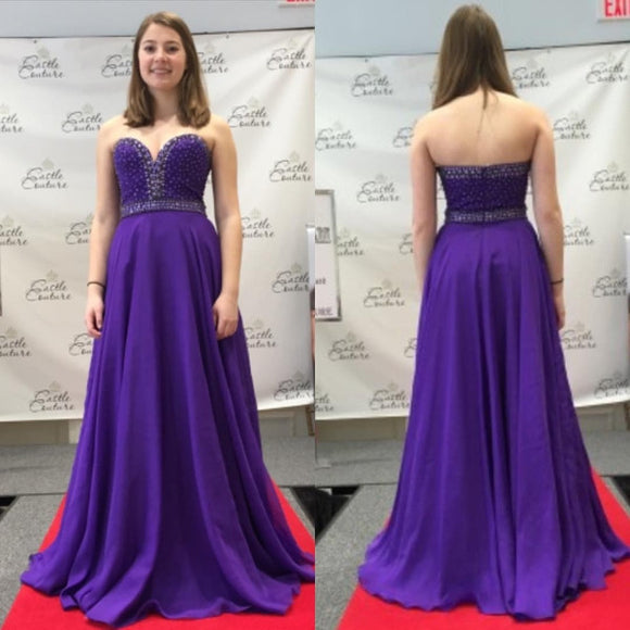 purple prom dress,long Prom Dress,sweetheart prom dress,chiffon prom dress,junior evening dress,BD2882