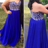 royal blue prom dress,long Prom Dress,sweetheart prom dress,charming prom dress,junior evening dress,BD2883