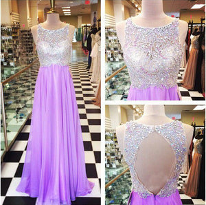 Long Prom Dresses,Open back Prom Dresses,Charming Prom Dress,Purple Prom Dress,Party Dress,BD142