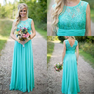 blue bridesmaid dress,long bridesmaid dress,modest bridesmaid dress,cheap bridesmaid dress,BD2013  alt=