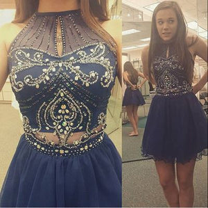 Homecoming dress,Short prom Dress,blue Prom Dresses,Party dress for girls,charming prom dress,BD755