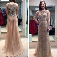 Beading prom Dress,Charming Prom Dress,Long prom dress, 2017 prom dress,evening dress,BD019  alt=