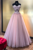 formal chic lilac A-line strapless  long prom dress, HB207
