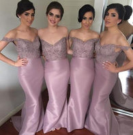 Dusty purple bridesmaid dress,long bridesmaid dress,Cheap bridesmaid dress,Off shoulder bridesmaid dress,BD070  alt=