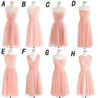 mismatched bridesmaid dress,short bridesmaid dress,blush pink bridesmaid dress,cheap bridesmaid dress,BD1367  alt=