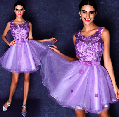 short Prom Dresses,lace Prom Dress,lavender prom dress,charming prom Prom,homecoming Dress,BD1103