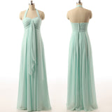 long bridesmaid Dress, mint bridesmaid Dress, chiffon bridesmaid Dress, maternity bridesmaid Dress, BD1692