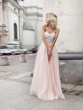 A line Sweetheart Floor Length Lace Long Prom Dresses,ED20002