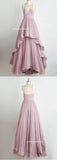 Long Prom Dress A-line Floor-length Ruffles Prom Dresses,ED250034
