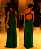 green prom Dress,formal Prom Dress,chiffon prom dress,one shoulder prom dress,Long prom dress,BD1205