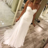 Elegant Lace Appliques Sweetheart Tulle Mermaid Wedding Dresses,PD0702