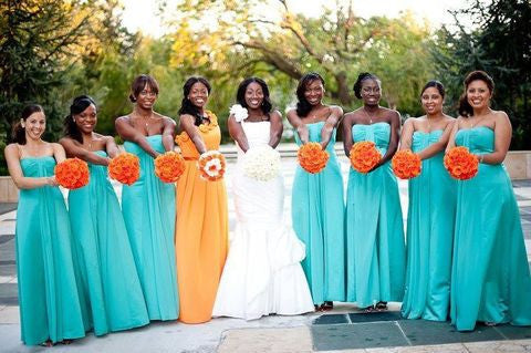 blue bridesmaid dress,long bridesmaid dress,chiffon bridesmaid dress,cheap bridesmaid dress,BD1631