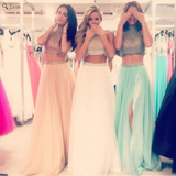 two pieces Prom Dresses,charming Prom Dress,Dresses For Prom,party Prom Dress,long Prom Dress,BD900