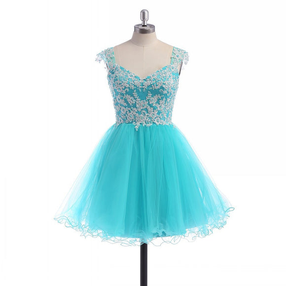 short prom Dress,Lace Prom Dresses,Party dress for girls,A-line prom dress,cheap prom dress,BD365