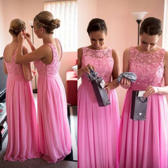 hot pink bridesmaid dress,long bridesmaid dress,cheap bridesmaid dress,elegant bridesmaid dress,BD1632