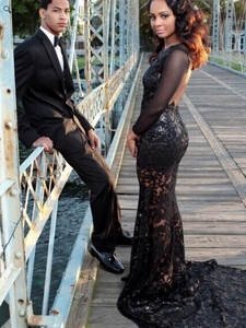 black prom Dress,backless Prom Dress,long prom dress,see through prom dress,evening dress,BD1236