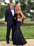 lace prom Dress,black Prom Dress,mermaid prom dress,sweetheart prom dress,Long prom dress,BD1209