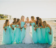 blue bridesmaid dress,long bridesmaid dress,beach bridesmaid dress,chiffon bridesmaid dress,BD1641  alt=