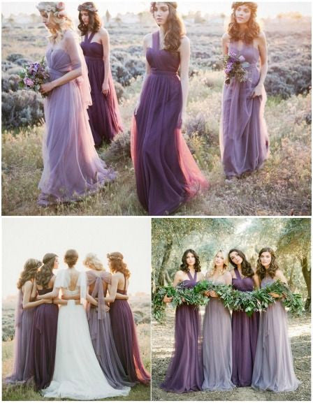 tulle bridesmaid dress,long bridesmaid dress,convertible bridesmaid dress,2016 bridesmaid dress,BD324
