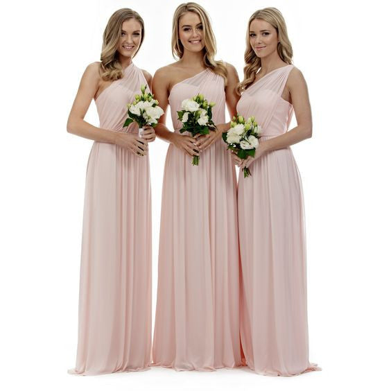 pink bridesmaid dress,Long bridesmaid dress,cheap bridesmaid dress,Chiffon bridesmaid dress,BD697