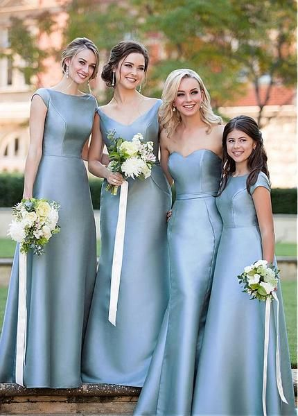 gray bridesmaid dress,long bridesmaid dress,mismatched bridesmaid dress,cheap bridesmaid dress, BD3622