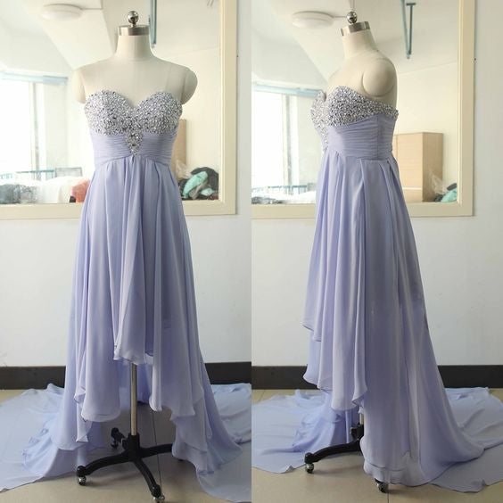 lavender prom dress,hi-lo Prom Dress,sweetheart prom dress,2016 prom dress,party dress,BD1369