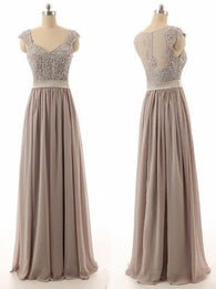 gray bridesmaid dress,long bridesmaid dress,lace top bridesmaid dress,2016 bridesmaid dress,BD846  alt=