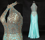 long prom dress,blue Prom Dress,charming evening gown,formal prom gown,2016 prom dress,BD1010