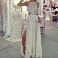 Long Prom Dresses,Charming Prom Dress,white Prom dress,lace prom Dress,2016 prom Dress,BD439  alt=