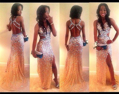 Beading prom Dress,Charming Prom Dresses,2017 prom Dress,Glittery prom dress,Sexy Evening dress,BD059