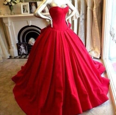 Red prom dresses,2017 prom dress,Sweetheart prom dress,Neckline prom dresses,Long Ball Gown,Prom Dresses,BD006