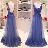 Purple Prom Dresses,Lace Prom Dresses,Backless Prom Dress,Long Prom Dress, 2016 Prom Dress,BD131  alt=