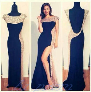 Black Prom Dressesside Slit Prom Dressdresses For Promformal Prom