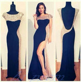 black Prom Dresses,side slit Prom Dress,Dresses For Prom,formal Prom Dress,long Prom Dress,BD897