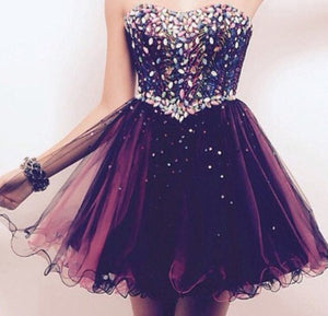 purple Homecoming dress,Short prom Dress,charming Prom Dresses, 2016 prom dress,BD913