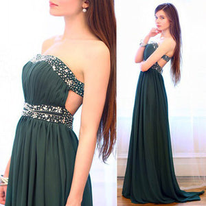 teal prom Dress,charming Prom Dress,long prom dress,strapless prom dress,evening dress,BD1003