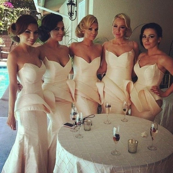 white bridesmaid dress,long bridesmaid dress,sweetheart bridesmaid dress,mermaid bridesmaid dress,BD850