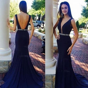 black prom Dress,v-neck Prom Dress,long prom dress,backless prom dress,evening dress,BD1215