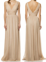 chiffon bridesmaid dress,long bridesmaid dress,cheap bridesmaid dress,simple bridesmaid dress,BD851  alt=