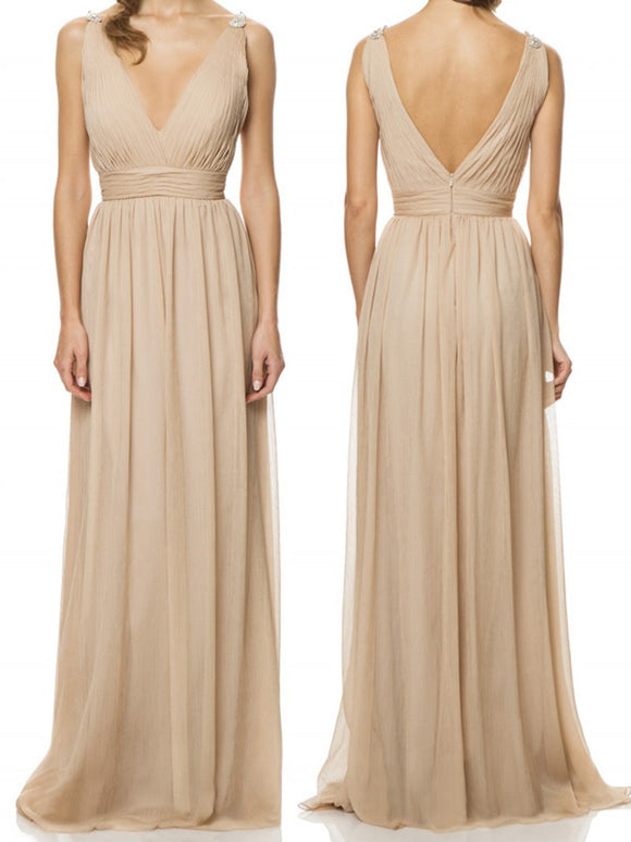 chiffon bridesmaid dress,long bridesmaid dress,cheap bridesmaid dress,simple bridesmaid dress,BD851
