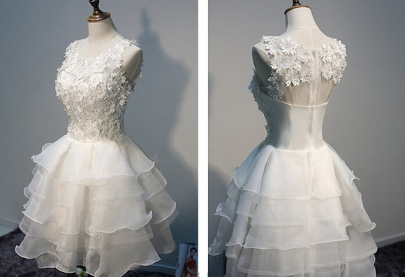 White prom Dress,Cheap Prom Dresses,Party dress for girls,A-line prom dress,homecoming dress,BD367