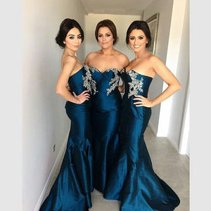 mermaid bridesmaid dress,Long bridesmaid dress,sweetheart bridesmaid dress,2016 bridesmaid dress,BD840