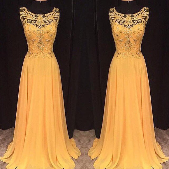 yellow prom Dress,long Prom Dress,charming prom dress,2016 prom dress,evening dress,BD1405