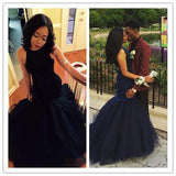 navy blue prom Dress,mermaid Prom Dresses,long prom dress,charming party dress,BD1668