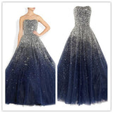 navy blue prom Dress,A-line Prom Dresses,long prom dress,charming prom dress,prom gown,BD1667