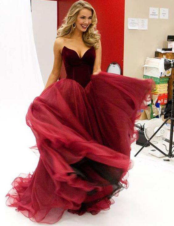 2017 Prom Dresses, Red Prom Dress,V-neck Prom Dress,cheap prom dresses,charming Prom Dress,BD082101