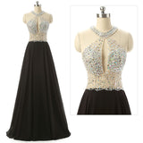 black Prom Dresses,long prom dress,beaded prom Dress,cheap prom dress,formal evening gown,BD2427