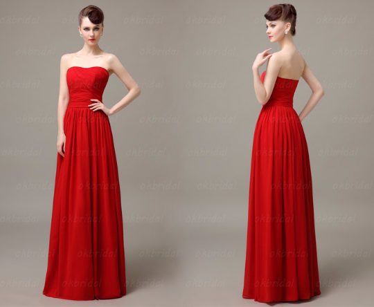 Red bridesmaid dress,Long bridesmaid dress,Chiffon bridesmaid dress,cheap prom dress,BD413
