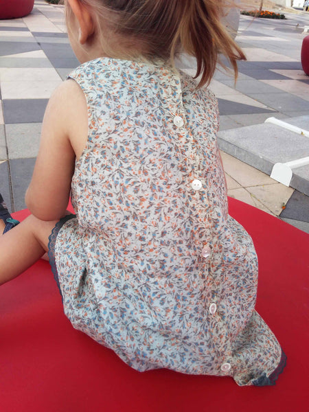 Laila Dress ~ cotton calico lined summer dress
